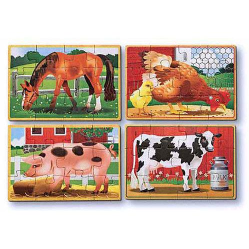 LA GRANJA ROMPECABEZAS EN CAJA-FARM ANIMALS PUZZLES IN A BOX