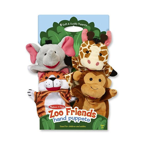 TITERES AMIGOS DEL ZOOLOGICO-ZOO FRIENDS HAND PUPPETS-MELISSA AND DOUG