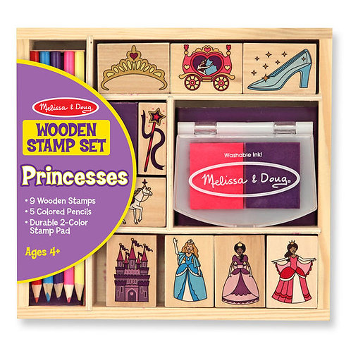 SET DE SELLOS PRINCESAS-PRINCESS STAMP SET- M & D