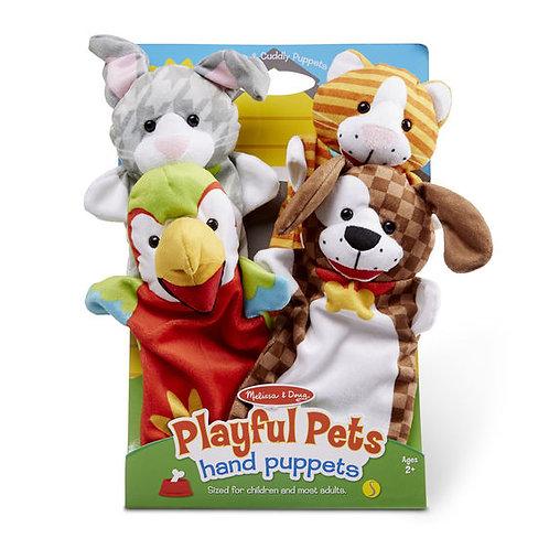 TITERES MASCOTAS JUGUETONAS-PLAYFUL PETS HAND PUPPETS-MELISSA AND DOUG