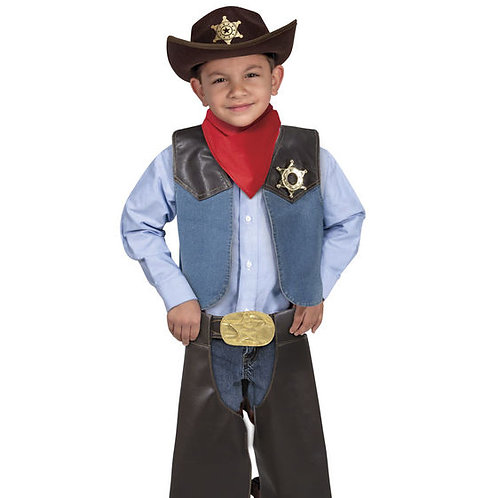 DISFRAZ DE VAQUERO-COWBOY ROLE PLAY COSTUME SET-MD