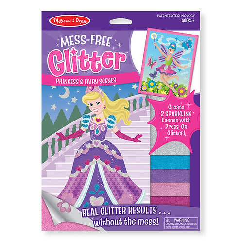 STICKERS PRINCESAS Y HADAS-MESS FREE GLITTER PRINCESS AND FAIRY SCENES-MELISSA