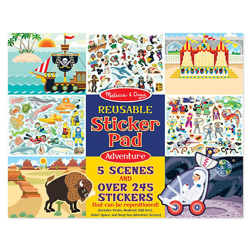 LIBRO DE STICKERS REUSABLES-AVENTURA-MELISSA AND DOUG