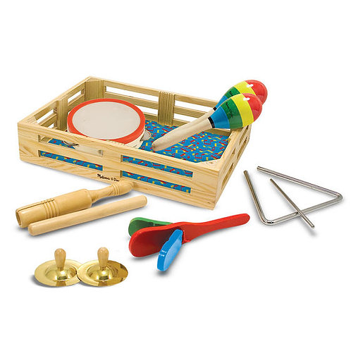 CAJA DE INSTRUMENTOS MUSICALES-BAND IN A BOX-MELISSA AND DOUG