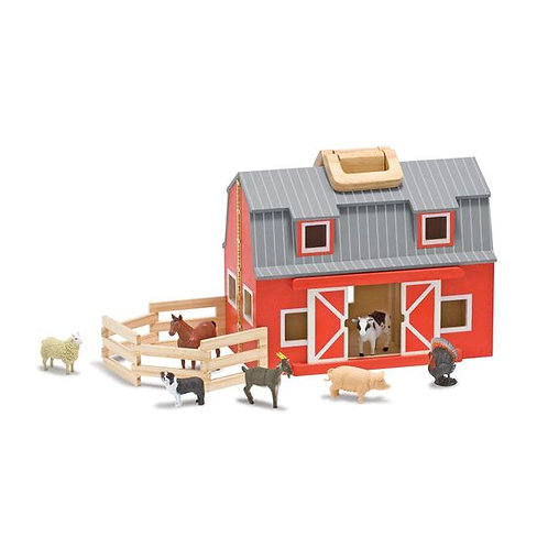 ESTABLO PORTATIL-FOLD AND GO BARN-MELISSA AND DOUG