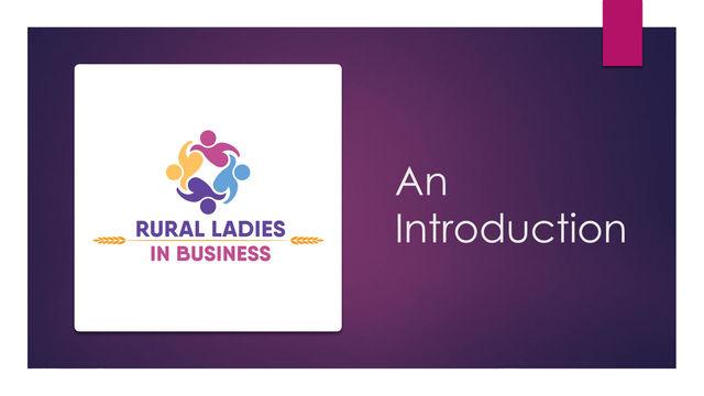 Introducing Rural Ladies in Business