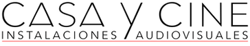 Logo Casa y cine fino negro linearoja.pn