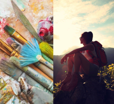 Nature + Art Therapy Combo