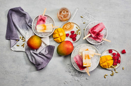Popsicles with fruit - food photograhy