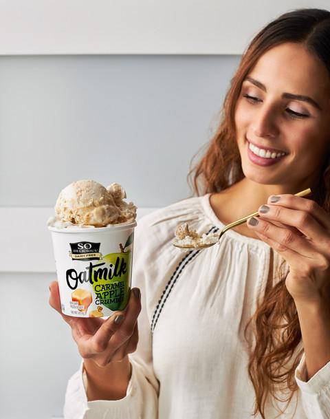 Woman holding Ice Cream