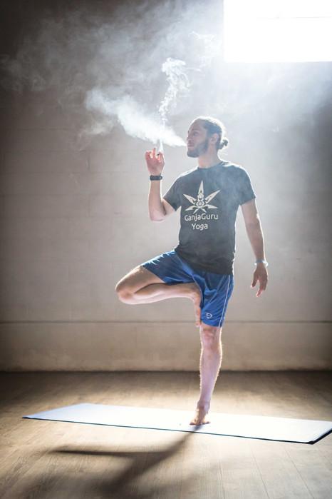 smoking yoga