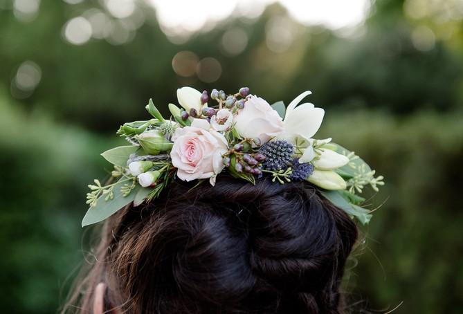 Wedding hair flowers, St Elizabeth's House