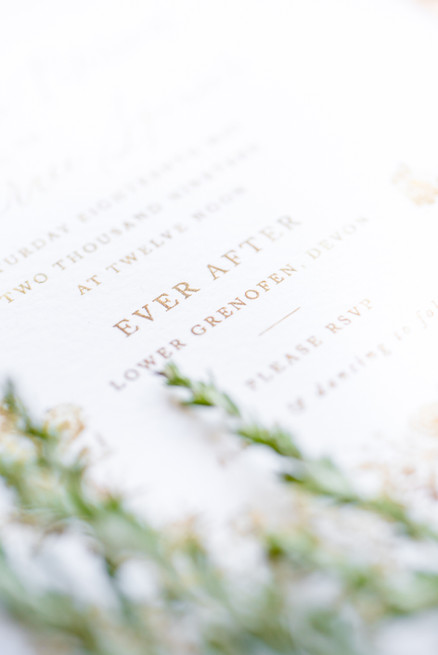 Wedding stationary by Rose & Ruby Fine Design