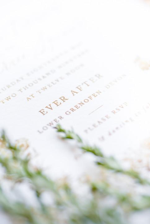 Wedding stationary by Rose & Ruby Fine Design