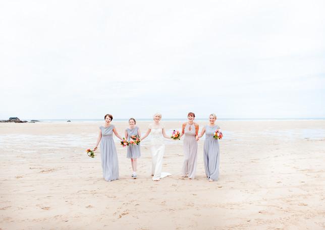 Beach wedding in Cornwall