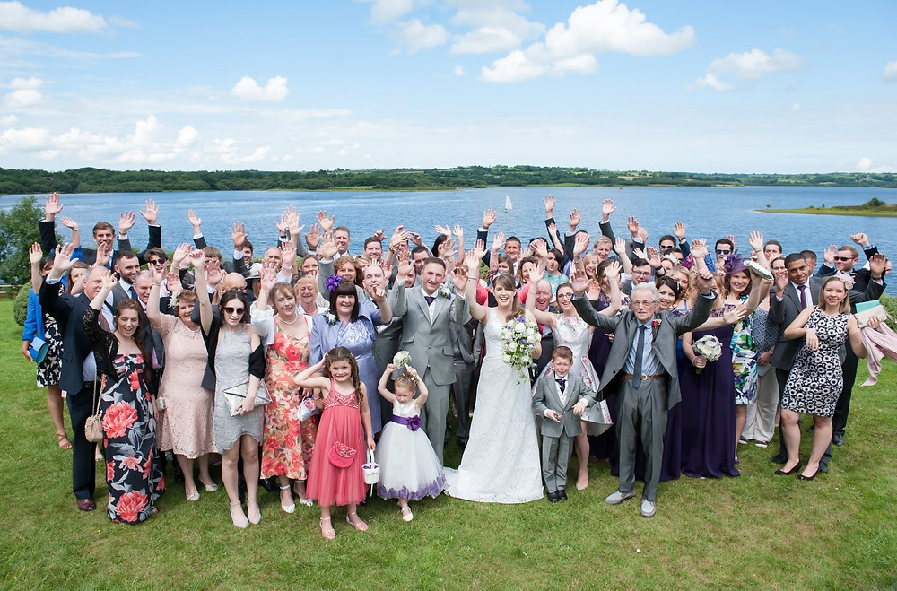 Wedding photographers at Roadford Lake