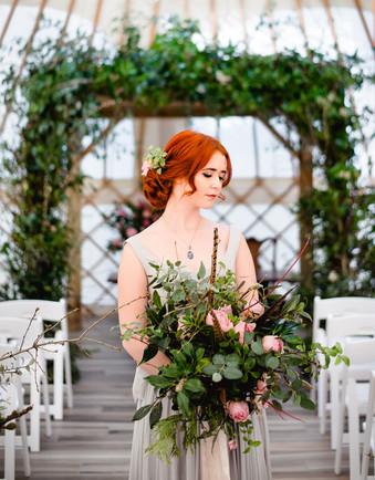 Botanical wedding arch