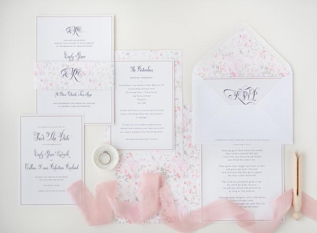 Wedding invitaions by Rose & Ruby Fine Design