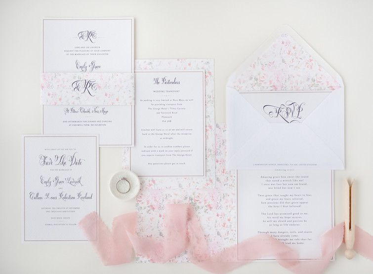 Wedding invitaions by Rose & Ruby Fine Design