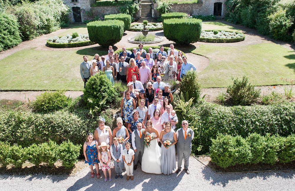 Wedding photographers at Langdon Court in Devon