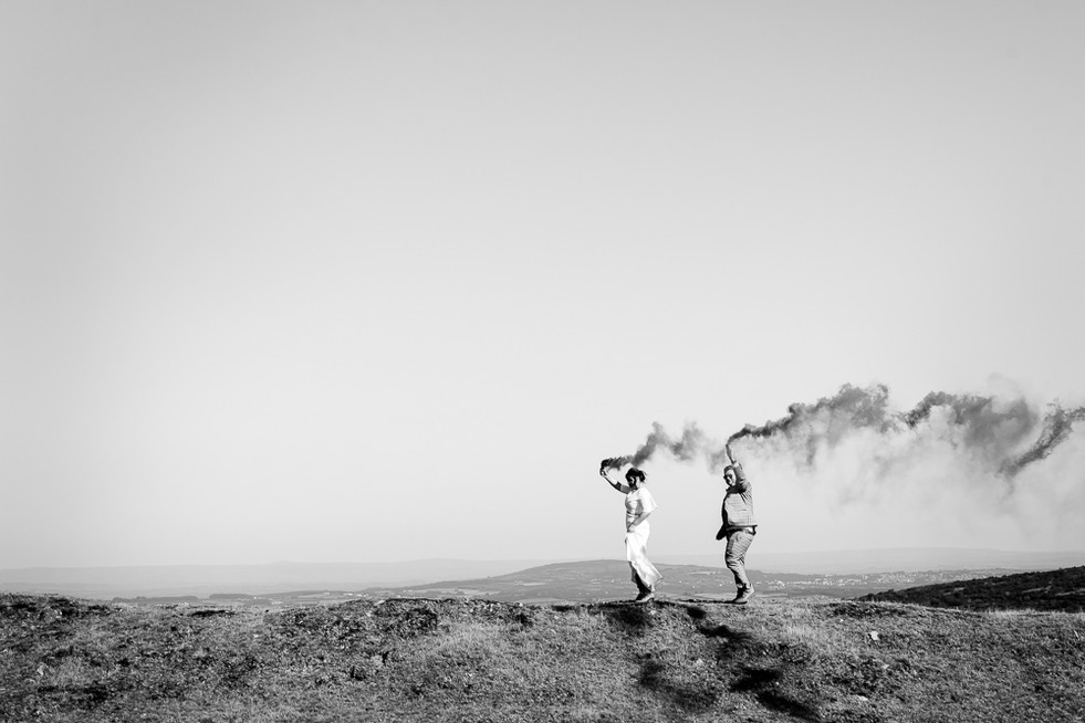 Smoke bombs on the moors