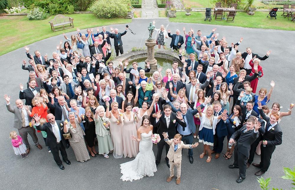 Wedding photographers at Lewtrenchard Manor in Devon
