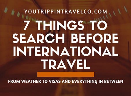 7 Things To Search Before International Travel