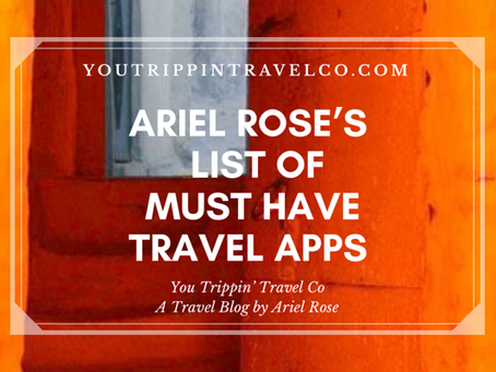 Ariel Rose's List of Must Have Travel Apps