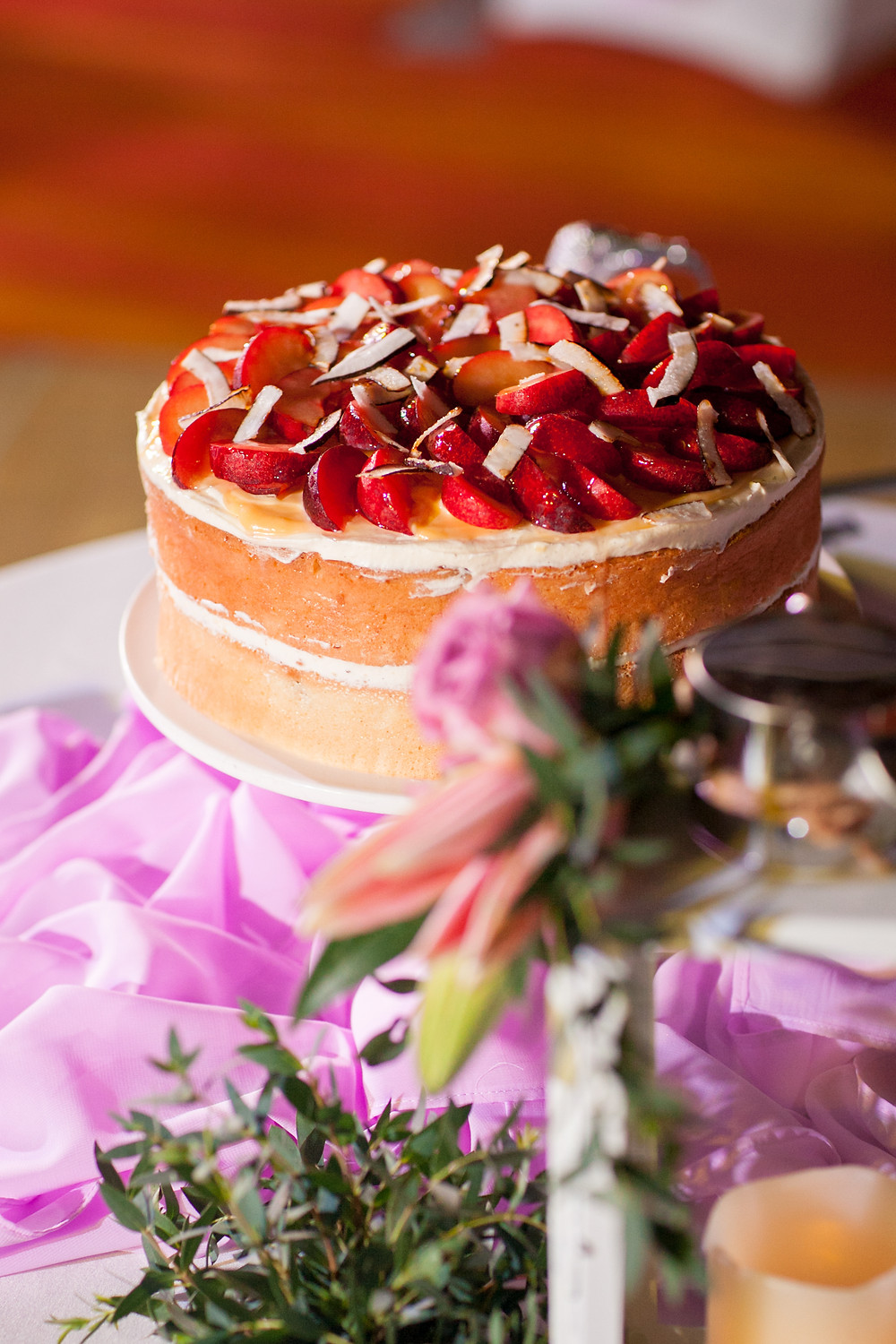 A Delicious Wedding Cake by Renaissance Hotel Chef