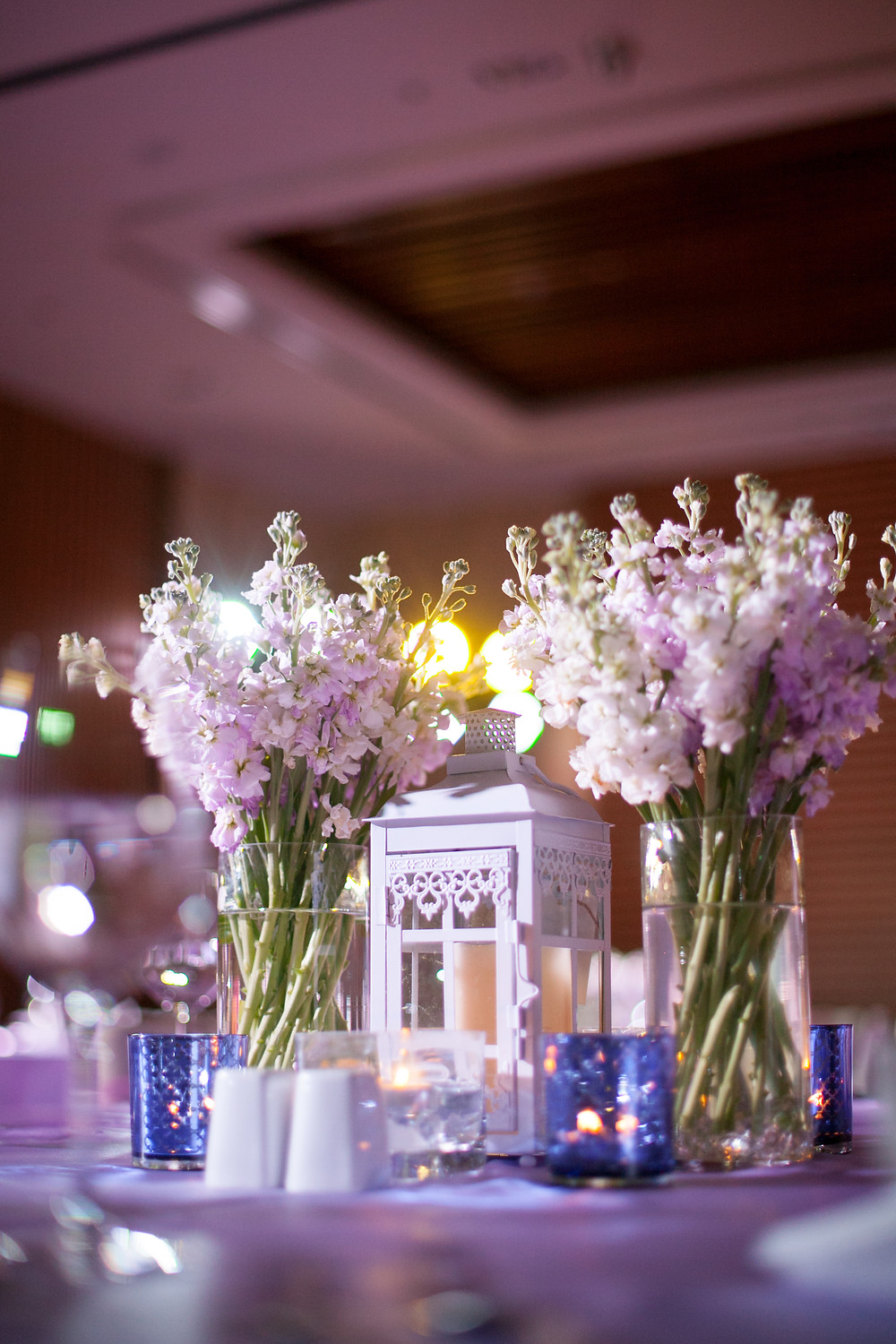 Extra Floral moment throughout the reception venue created a beautiful rustic table