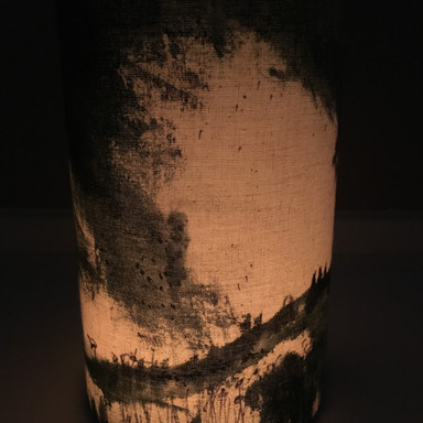 candle shade lit