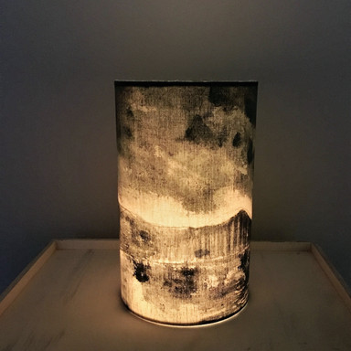 lit candle shade
