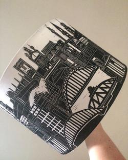 Newcastle Gateshead Lampshade