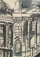Newcastle hand drawn lampshade