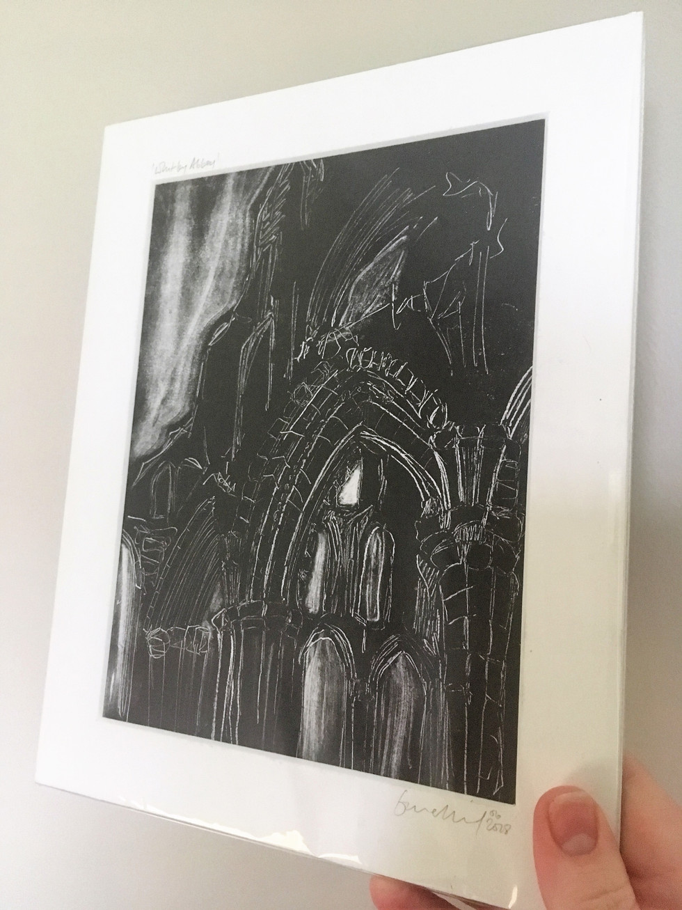 Whitby abbey, monoprint
