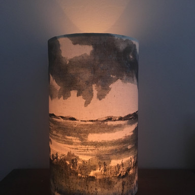 hand painted candle lantern.JPG