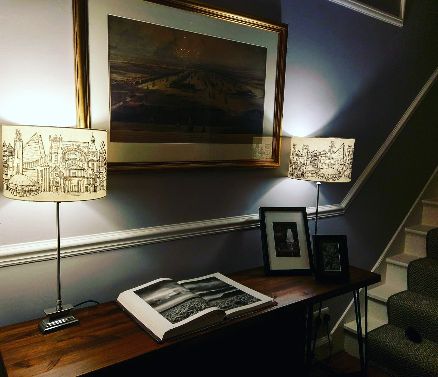 London hand painted lampshades