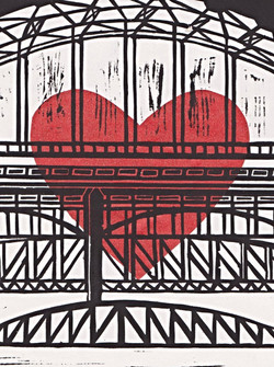 Tyne Bridges Heart