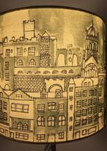 Edinburgh hand drawn lampshade