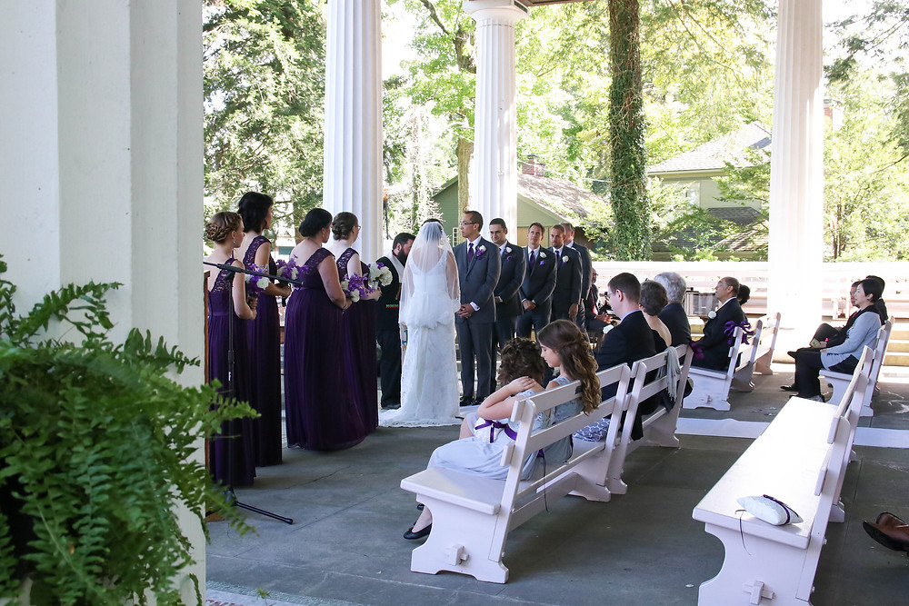 CHQ Chautauqua Institution Wedding Ceremony Bride Hall of Philosophy WNY Top 10 Venue