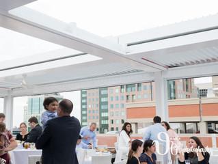 Rana & Jason's Curtiss Hotel Rooftop Wedding Rehearsal Party | Buffalo NY