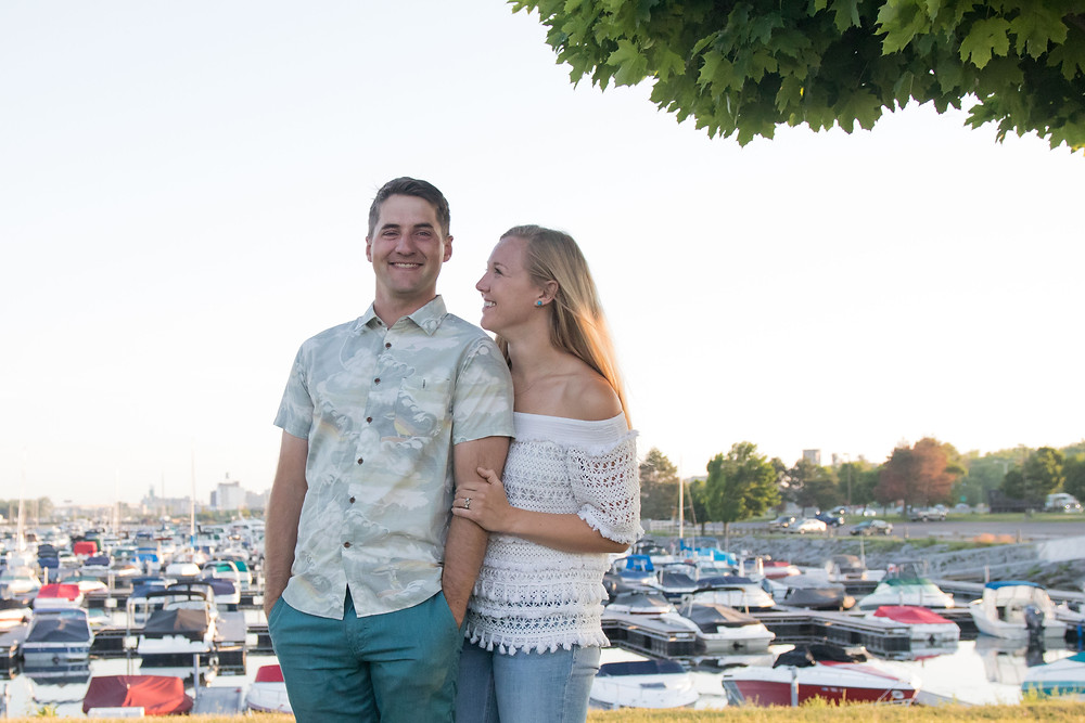 Buffalo Boat Harbor Sunrise Engagement Photography