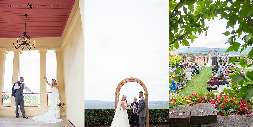 Heron Hill Winery Wedding overlooking Keuka Lake