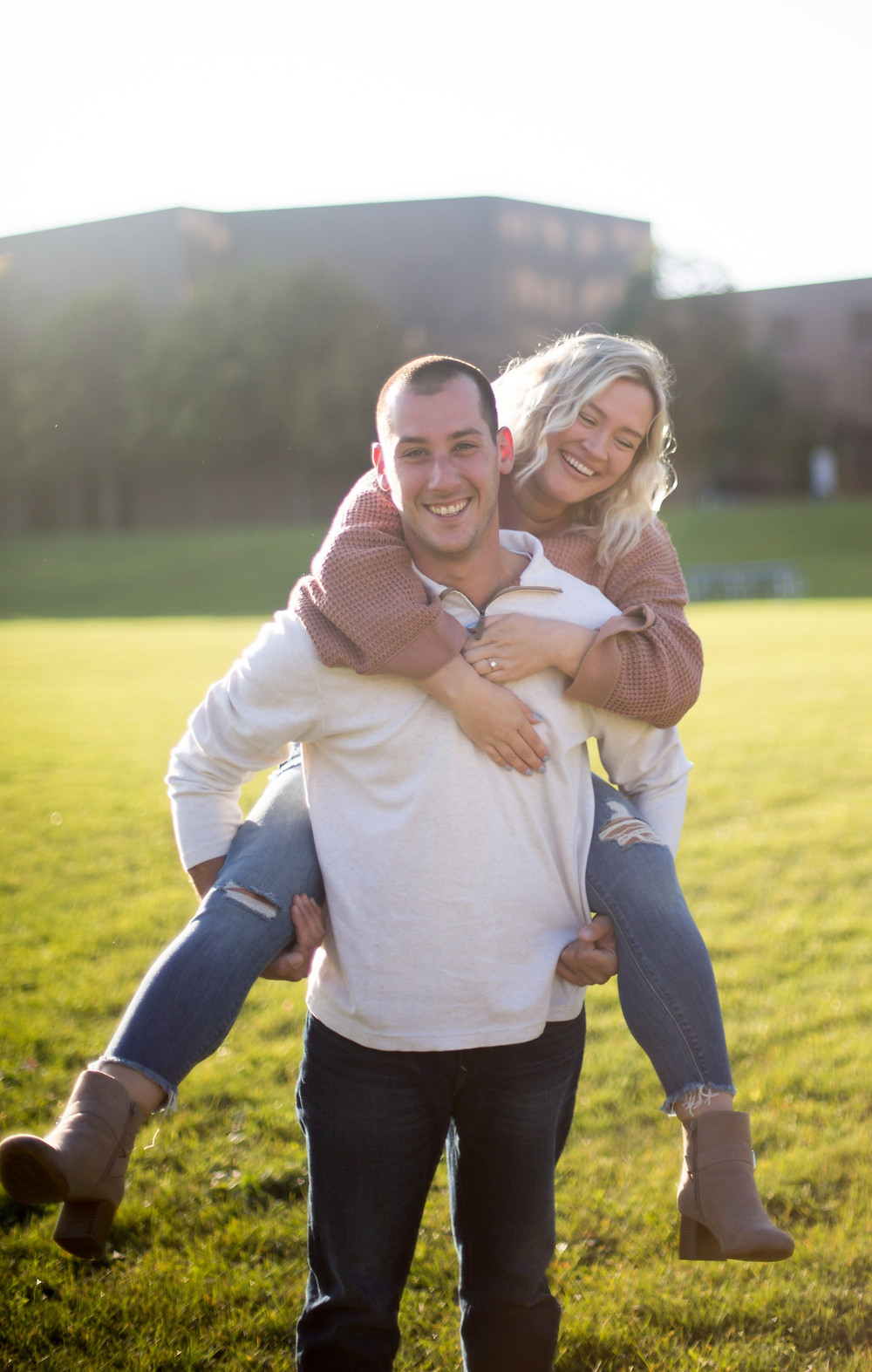 sunrise golden hour couples engagement photo University at Buffalo NY