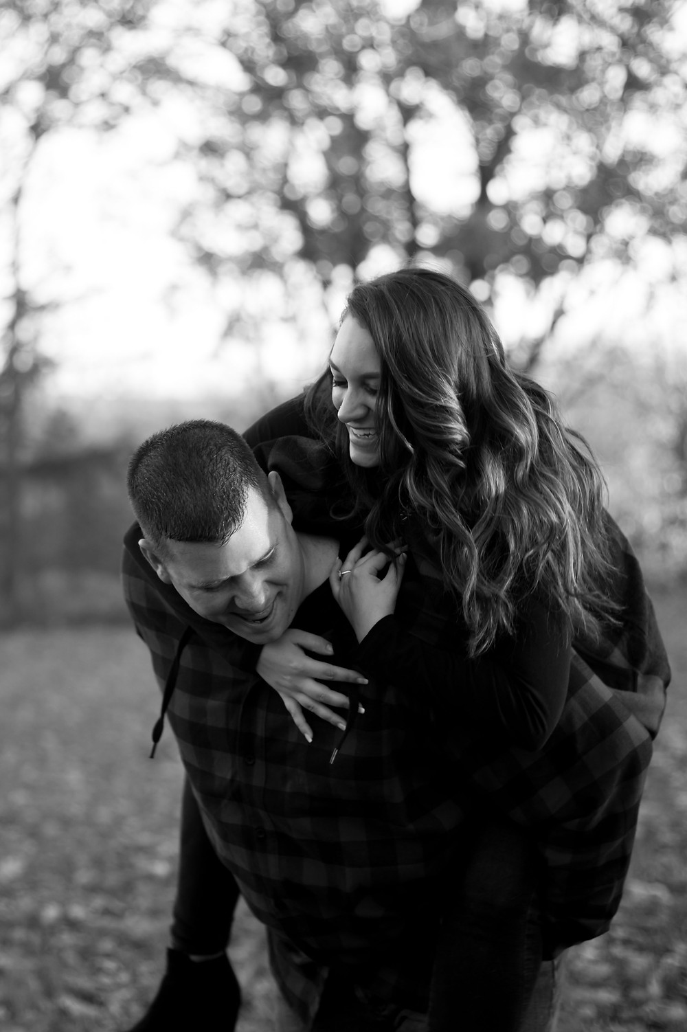 Geneseo NY fall golden hour couples engagement photo candid documentary intimate photography