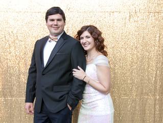 Carrie & Ken's Glamorous Buffalo Backyard Wedding Bash
