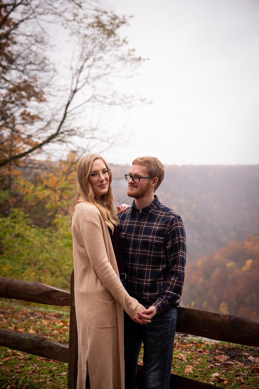 letchworth state park couples engagement photo shoot