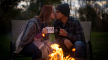 Cassie + Jordan's gorgeous fall engagement photos | Chestnut Ridge park + backyard campfire session