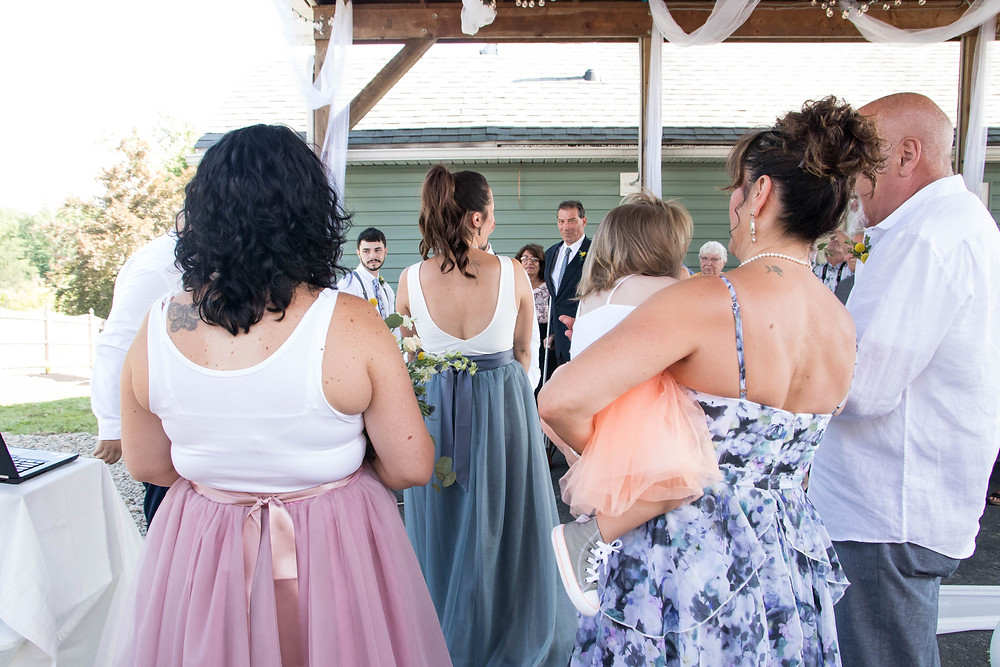 backyard wedding ceremony orchard park ny