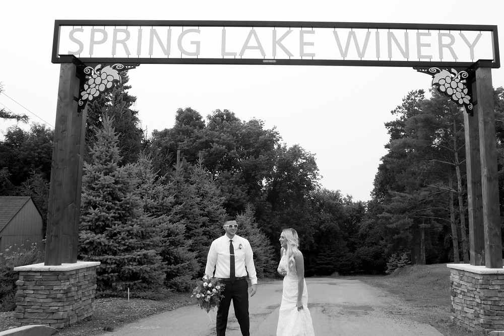 spring lake winery wedding bridal portraits lockport